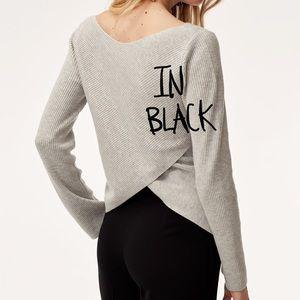 Aritzia   Babaton Kitano Cross-back Sweater Black